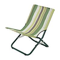 """Шезлонг """"Мини"""" d22 мм (текстилен зеленая полоса), фото 1"""