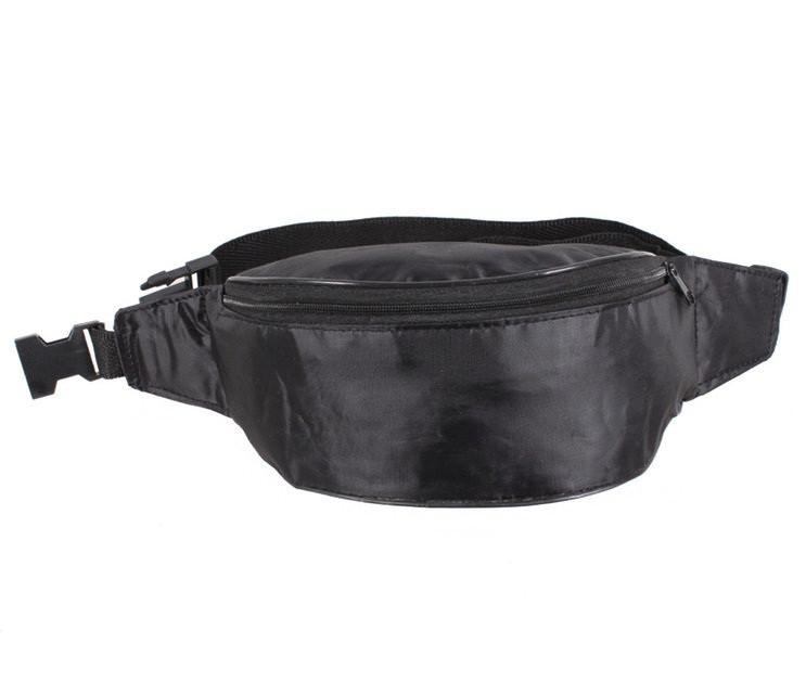 Мужская тканевая сумка на пояс черная