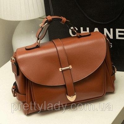 Женская винтажная сумка Почтальон коричневая  продажа 13bc65133e9d2
