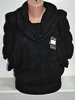 Женский джемпер черного цвета хамут, фото 1