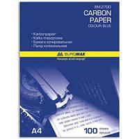 Бумага копировальная А4 210x297мм 100 л. синяя BUROMAX