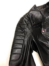 Куртка черная женская кожаная, фото 3