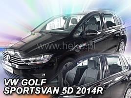 Дефлекторы окон (ветровики)  VW GOLF SPORTSVAN - 5D 2014R->(HEKO)