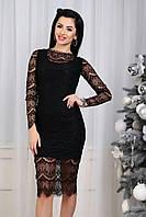 """Черное восхитительное кружевное женское платье """"Сказка"""""""