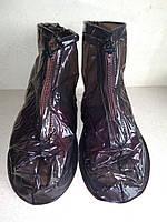 Водонепроницаемые антискользящие чехлы XL черные krocs rain boots резиновые сапоги дождевик драйстепперы обувь