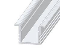 Алюминиевый анодированный профиль для светодиодной подсветки, с увеличенной глубиной, крепление в потолок.