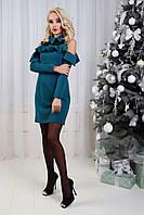"""Женское платье волан с воротником  """"Аргентина"""" три цвета, фото 1"""