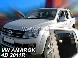 Дефлекторы окон (ветровики)  AMAROK - 4D 2011R.->(HEKO)