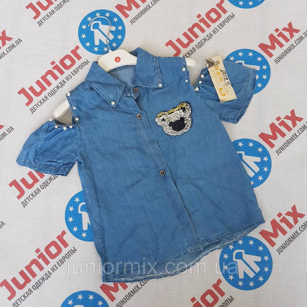 5018d1f484e Детская джинсовая рубашка для девочек оптом B.B.W kids