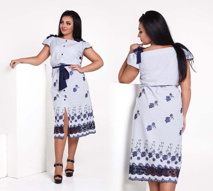 d388d74fa14 Стильное летнее женское платье в больших размерах