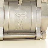 Кран шаровый нержавеющий трехсоставной резьбовой GENEBRE тип 2025 AISI316 Ду50 Ру63, фото 8
