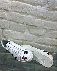Кеды женские Dolce Gabbana белые кожаные, фото 3