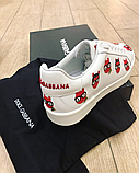 Кеды женские Dolce Gabbana белые кожаные, фото 6