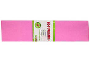 Папір ГОФРО 1 ВЕРЕСНЯ 55% рожевий (50см*200см) 20шт/уп