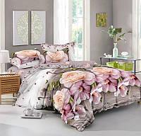 Семейный комплект постельного белья сатин (9474) TM КРИСПОЛ Украина