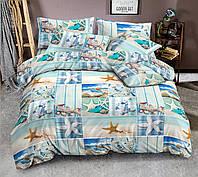 Семейный комплект постельного белья сатин (9606) TM КРИСПОЛ Украина