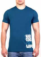 Мужская футболка (норма) синий, фото 1