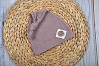 "Летняя шапка ""Knot"", капучино"