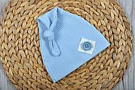 """Летняя шапка """"Knot"""", голубая"""