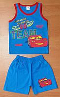 Костюм для мальчика Майка и шорты Принт Тачка Night day 1 (р) рост 86, фото 1