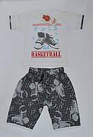 Костюм для мальчика Футболка  шорты, принт кеды Jerry Турция 86(р), фото 1