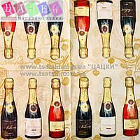 """Салфетка декупажная 33x33см 13 """"Шампанские вина"""""""