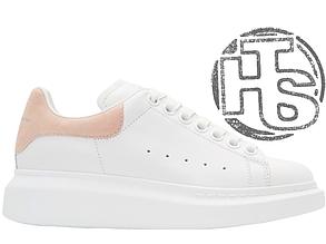 Женские кроссовки реплика Alexander McQueen Oversized Sneaker White Beige