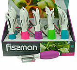 Нож для чистки овощей Fissman Р-форма (Нержавеющая сталь, Силикон), фото 5