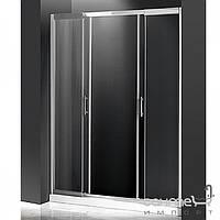 Душевые кабины, двери и шторки для ванн Atlantis Душевая дверь в нишу Atlantis PF-17-1 профиль хром, прозрачное стекло
