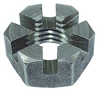 Гайка корончатая М14 нержавеющая DIN935, сталь А2, А4, фото 2