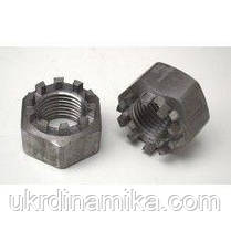 Гайка корончатая М27 нержавеющая DIN935, сталь А2, А4, фото 3