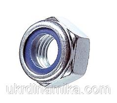 Гайка М16 DIN 985 самоконтрящаяся с нейлоновым кольцом