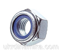 Гайка М20 DIN 985 самоконтрящаяся с нейлоновым кольцом, фото 2