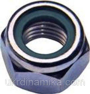 Гайка М36 DIN 985 самоконтрящаяся с нейлоновым кольцом, фото 2