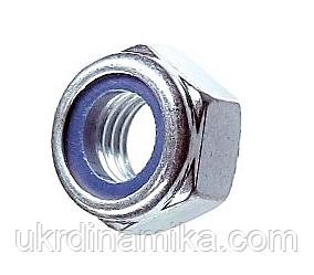 Гайка М8 DIN 985 самоконтрящаяся с нейлоновым кольцом, фото 2