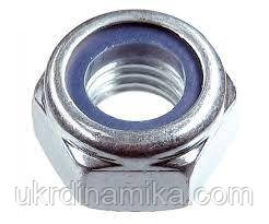 Гайка М8 DIN 985 самоконтрящаяся с нейлоновым кольцом, фото 3