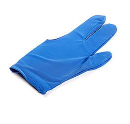 Синие бильярдные перчатки 1шт