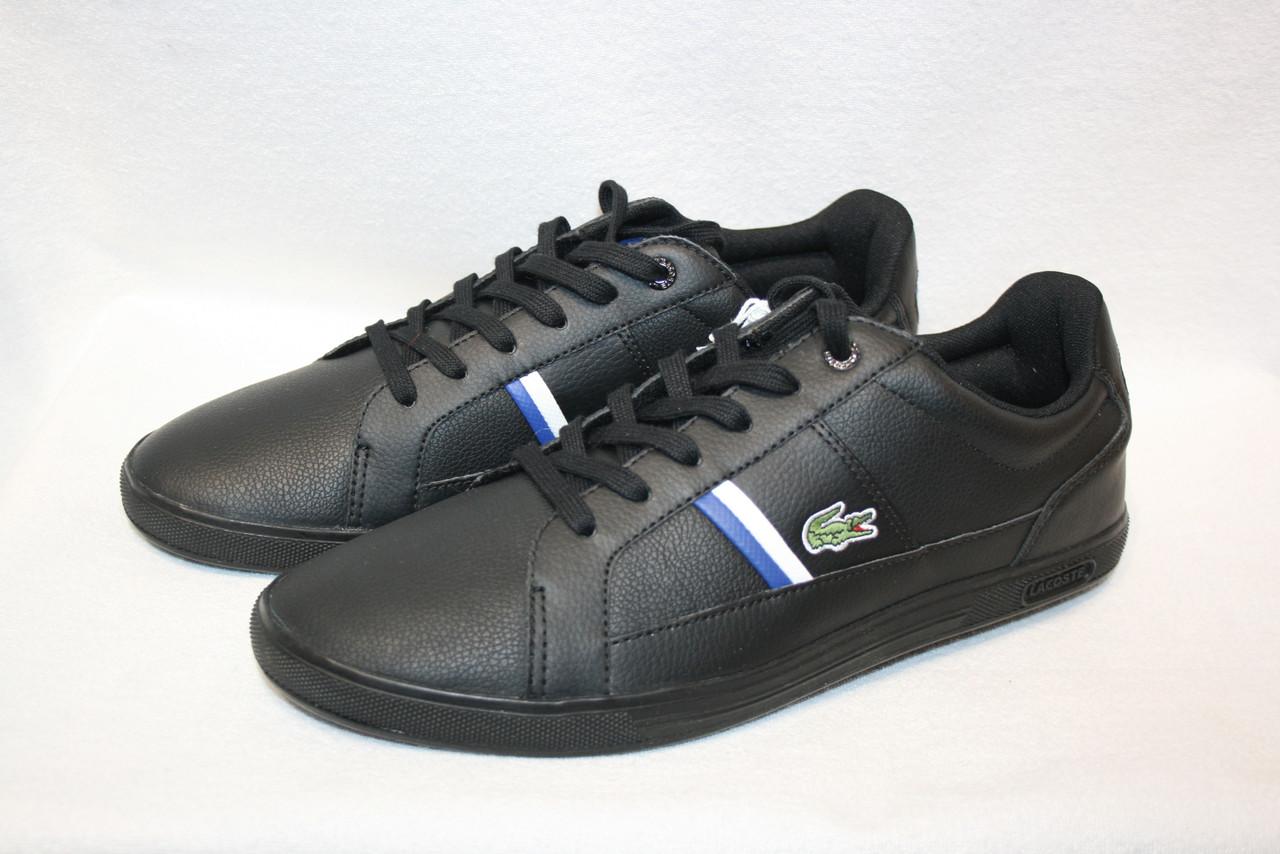 Кеды мужские Lacoste цвет черный размер 46 арт 7-30SPM000802H
