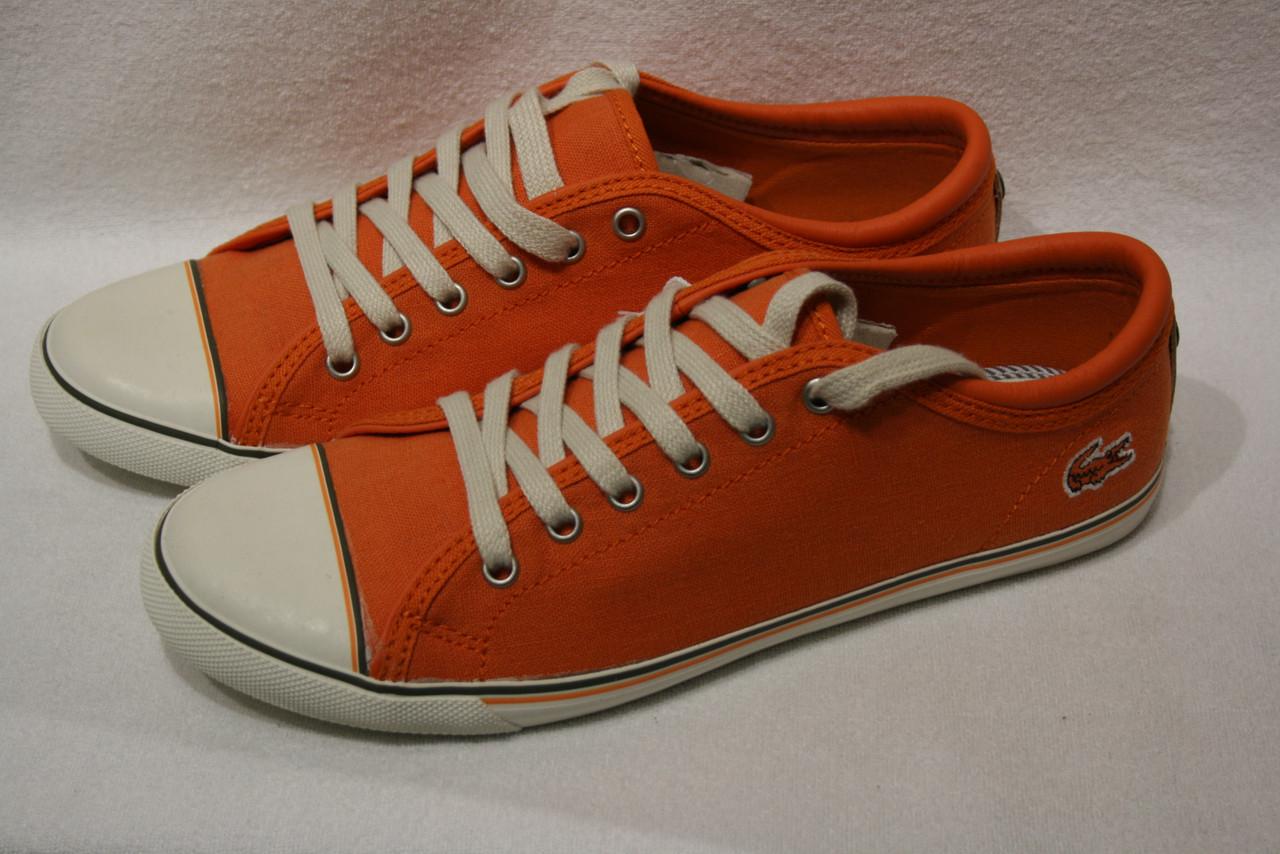 Кеды женские Lacoste цвет оранжевый размер 37 40 арт 7-27SRW1237099