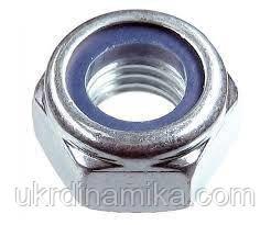 Гайка нержавеющая М8 DIN 985 низкая самоконтрящаяся с нейлоновым кольцом, фото 2