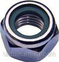 Гайка нержавеющая М8 DIN 985 низкая самоконтрящаяся с нейлоновым кольцом, фото 3