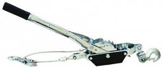 Лебідка ручна 2т, 2 храповика, 2 гачка, трос 4,8ммх2,5м Technics 52-393 | лебедка ручная крючка