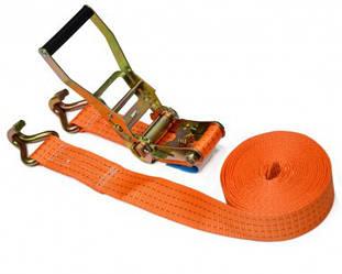 Стяжний ремінь 4т/50 ммх 4 м, з тріскачкою Berg 52-421 | стяжной ремень с трещоткой