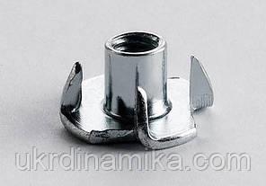 Гайка упорная врезная М5 DIN 1624, фото 2