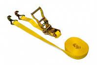 Багажна стрічка, 2 гаки 1т/25мм х 4м, з тріскачкою Technics 52-442 | багажная лента крюки трещоткой