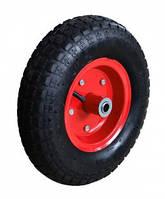 Колесо з металевим диском для тачки, 13'', вісь 16х90 мм Technics 70-424 | металлическим ось