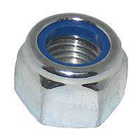 Гайка шестигранна М14 самоконтрящаяся низька, з нейлоновим вкладишем DIN 985, сталь А2, А4
