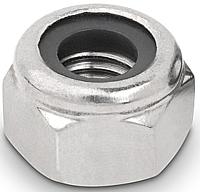 Гайка шестигранная М20 самоконтрящаяся низкая, с нейлоновым вкладышем DIN 985, сталь А2, А4, фото 2