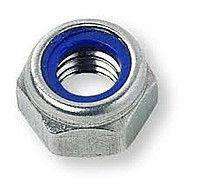 Гайка шестигранная М4 самоконтрящаяся низкая, с нейлоновым вкладышем DIN 985, сталь А2, А4, фото 2