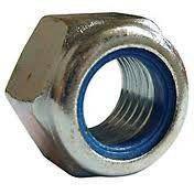 Гайка шестигранная М4 самоконтрящаяся низкая, с нейлоновым вкладышем DIN 985, сталь А2, А4, фото 3